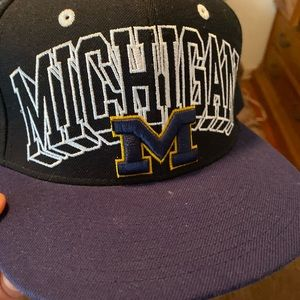 Gently worn snap back Michigan cap
